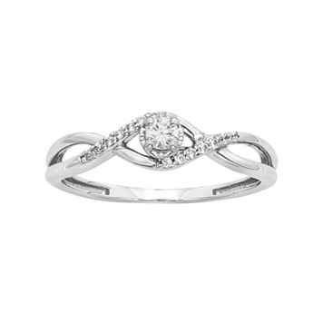 1/6 Carat T.W. Diamond Sterling Silver Infinity Ring