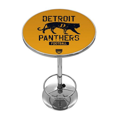 Detroit Panthers Chrome Pub Table
