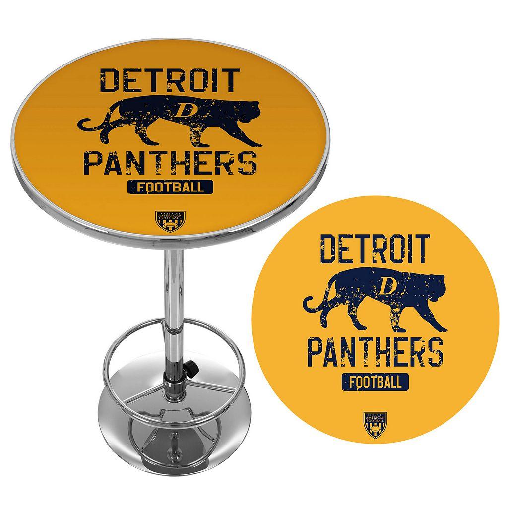 Detroit Panthers Chrome Pub Table