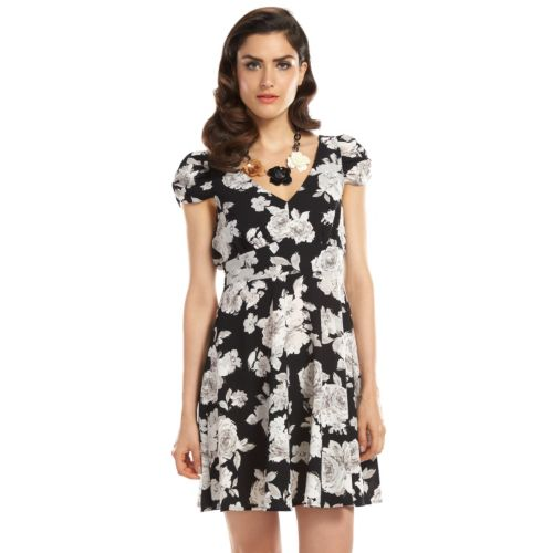 ELLE? 70th Anniversary Collection 1940s Floral A-Line Dress - Women's