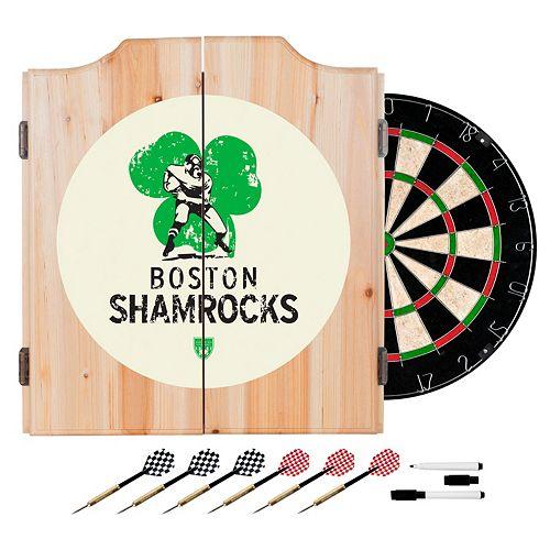 Boston Shamrocks Wood Dart Cabinet Set