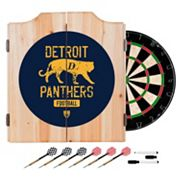Detroit Panthers Wood Dart Cabinet Set