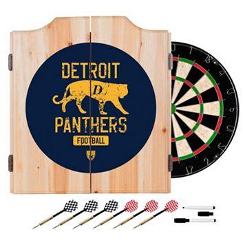 Detroit Panthers Wood Dart Cabinet Set