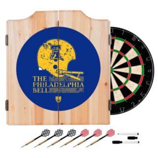 Philadelphia Bell Wood Dart Cabinet Set