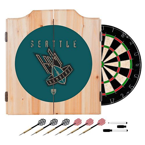 Seattle Bombers Wood Dart Cabinet Set