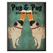 Art.com ''Pug and Pug Brewing'' Wall Art