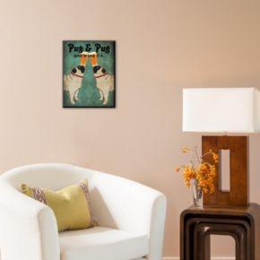 Art.com ''Pug and Pug Brewing'' Wall Art