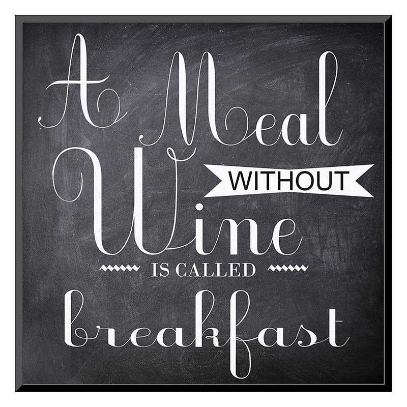 """Art.com """"A Meal Without Wine"""" Wall Art, Black"""