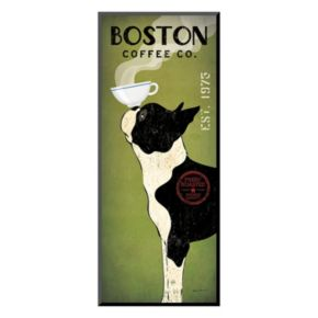 Art.com ''Boston Terrier Coffee Co.'' Wall Art