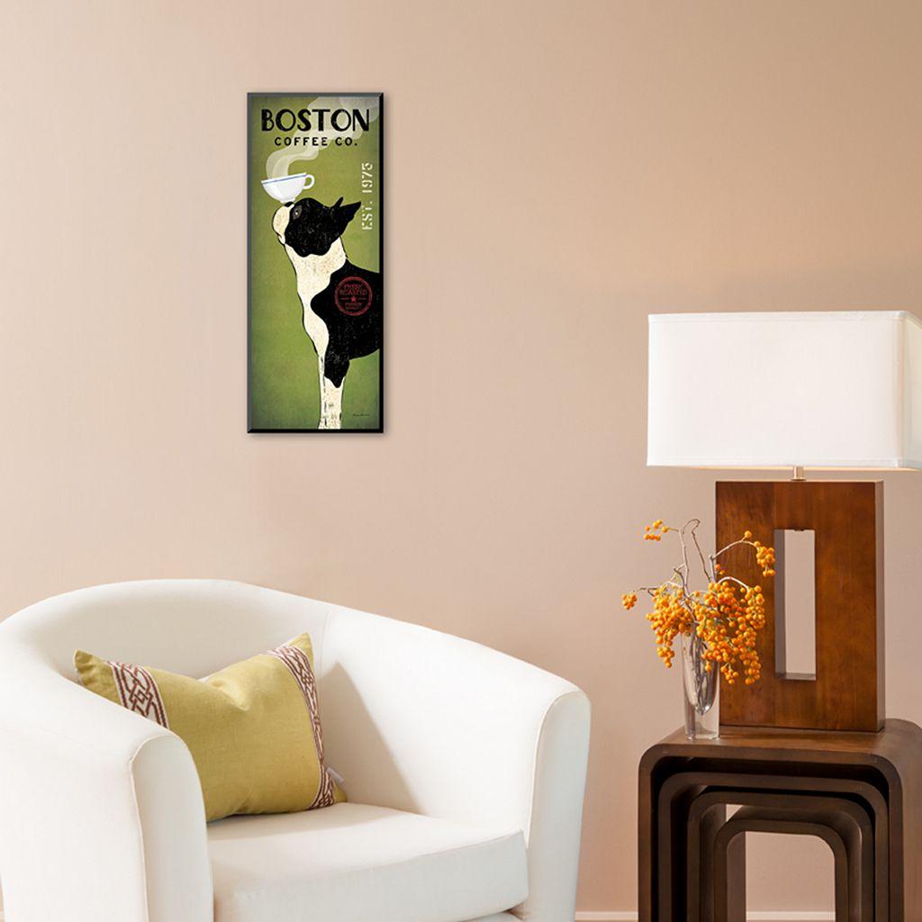 Art.com ''Boston Terrier Coffee Co.'' Wall Art