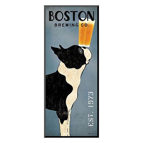 Art.com ''Boston Terrier Brewing Co.'' Panel Wall Art