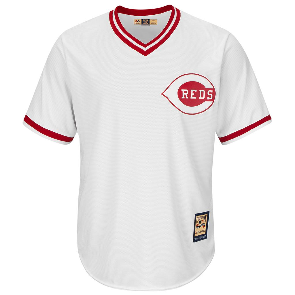 Men's Majestic Cincinnati Reds Johnny Bench Cooperstown Collection Cool Base Replica Jersey