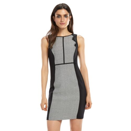 ELLE? 70th Anniversary Collection 1990s Colorblock Textured Sheath Dress - Women's