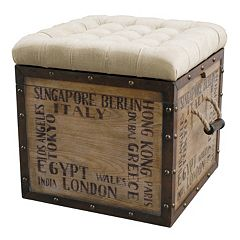 Pulaski Antique City Storage Ottoman