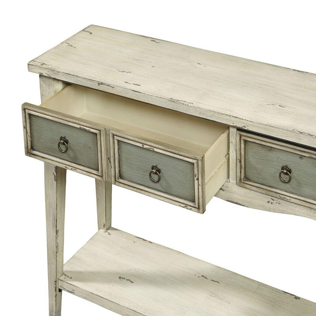 Pulaski Ella 2-Drawer Contrast Console Table