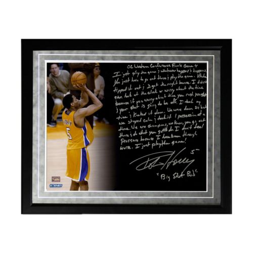 Steiner Sports Los Angeles Lakers Robert Horry Big Shot Rob Facsimile 16 x 20 Framed Metallic Stor...