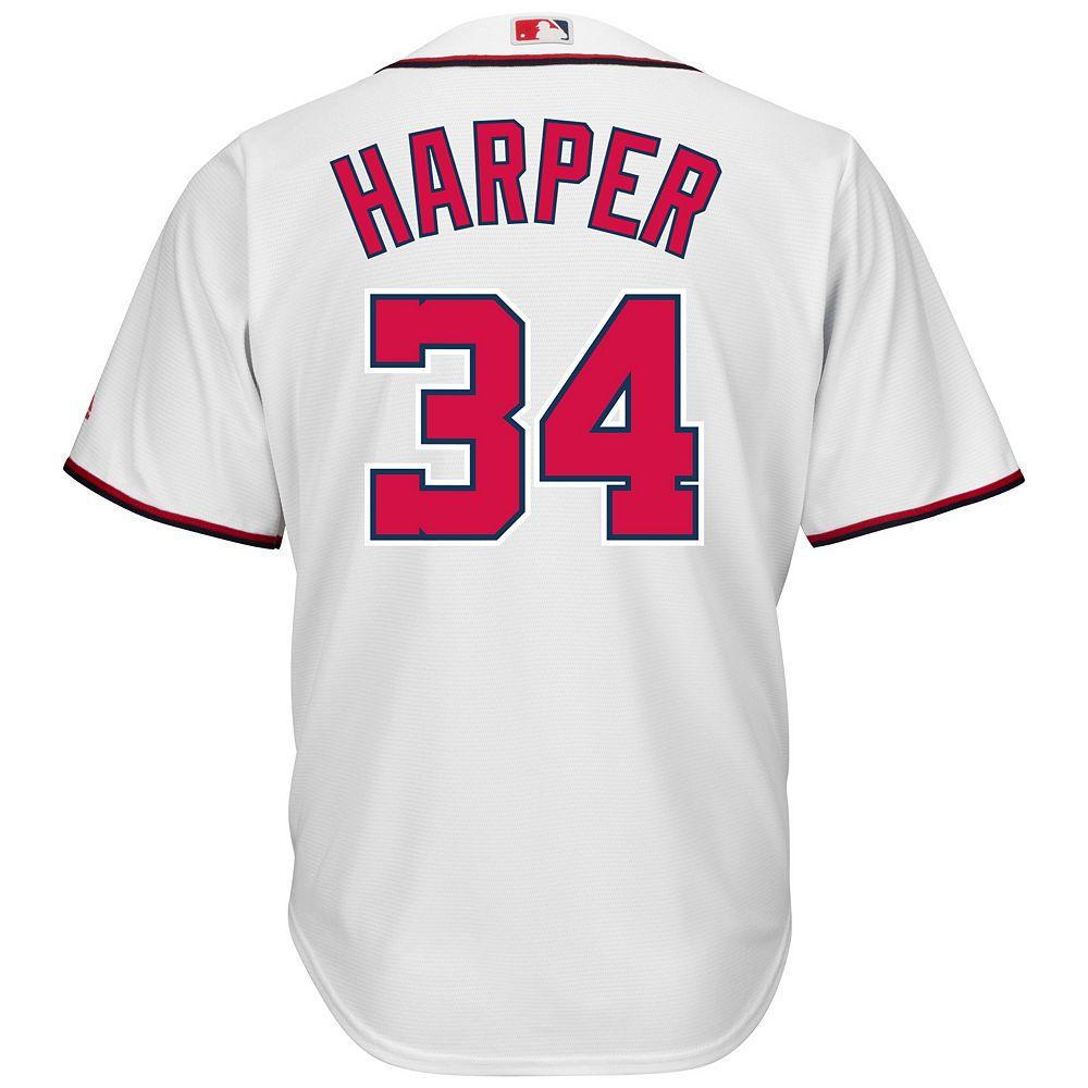 bae90048d Men s Majestic Washington Nationals Bryce Harper Cool Base Replica MLB  Jersey