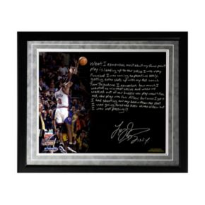 "Steiner Sports New York Knicks Larry Johnson 4-Point Play Facsimile 16"" x 20"" Framed Metallic Story Photo"