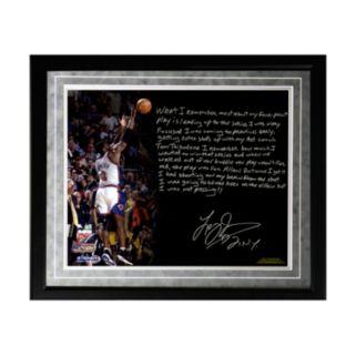 "Steiner Sports New York Knicks Larry Johnson 4-Point Play Facsimile 16"" x 20"" Framed Metallic Story Photo"