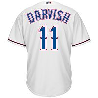 Men's Majestic Texas Rangers Yu Darvish Cool Base Replica MLB Jersey