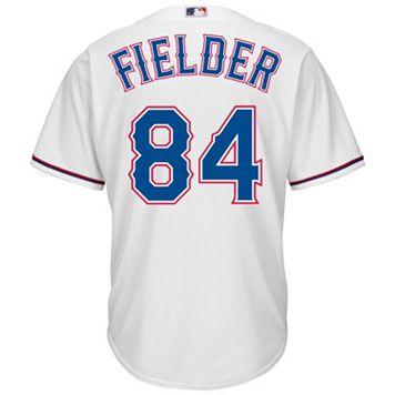 Men's Majestic Texas Rangers Prince Fielder Cool Base Replica MLB Jersey