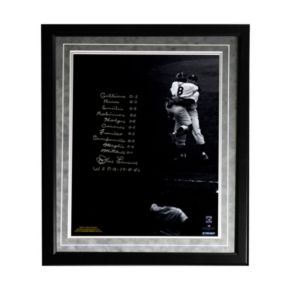 "Steiner Sports New York Yankees Don Larsen World Series Perfect Game Lineup Facsimile 16"" x 20"" Framed Metallic Story Photo"