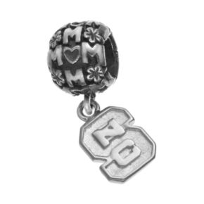 "Dayna U Sterling Silver North Carolina State Wolfpack Team Logo ""Mom"" Charm"