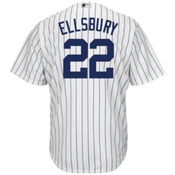 Men's Majestic New York Yankees Jacoby Ellsbury Cool Base Replica MLB Jersey