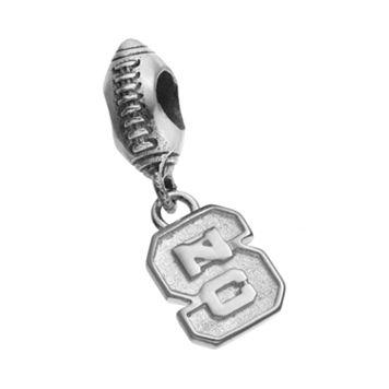 Dayna U Sterling Silver North Carolina State Wolfpack Team Logo Football Charm