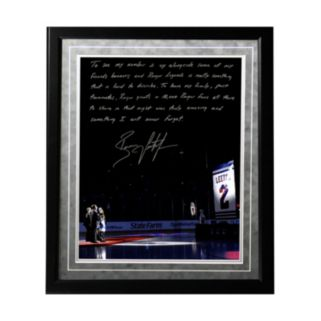 "Steiner Sports New York Rangers Brian Leetch Banner Night Facsimile 16"" x 20"" Framed Metallic Story Photo"