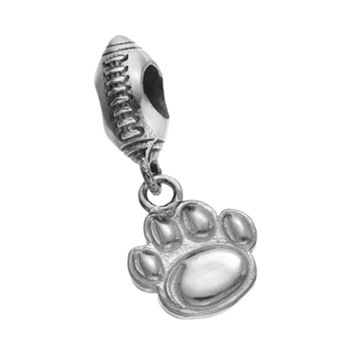 Dayna U Sterling Silver Penn State Nittany Lions Team Logo Football Charm