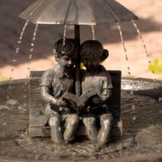 Smart Solar Children Reading Umbrella Fountain
