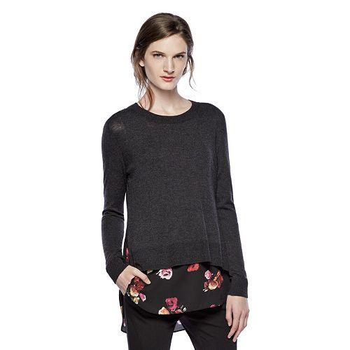 Thakoon for DesigNation Mock-Layer Crewneck Sweater - Women's