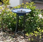 Smart Solar Mosaic Tile Birdbath Fountain