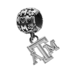 "Dayna U Sterling Silver Texas A&M Aggies Team Logo ""Mom"" Charm"