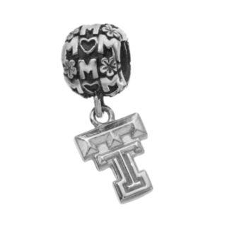 "Dayna U Sterling Silver Texas Tech Red Raiders Team Logo ""Mom"" Charm"