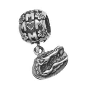 "Dayna U Sterling Silver Florida Gators Team Logo ""Mom"" Charm"