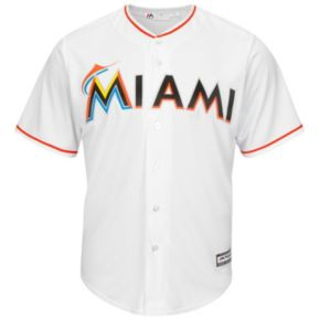 Men's Majestic Miami Marlins Cool Base Replica MLB Jersey