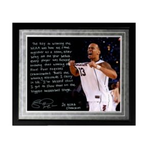 "Steiner Sports UConn Huskies Shabazz Napier NCAA Champs Facsimile 16"" x 20"" Framed Metallic Story Photo"