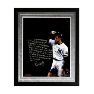 """Steiner Sports New York Yankees Paul O'Neill Playing in New York Facsimile 16"""" x 20"""" Framed Metallic Story Photo"""