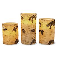 3-piece Birch Flameless Candle Set