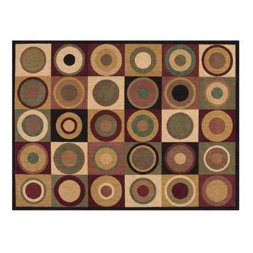 Nourison Parallels Circles Rug