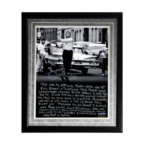 Steiner Sports New York Yankees Joe Pepitone Stickball Facsimile 16″ x 20″ Framed Metallic Story Photo