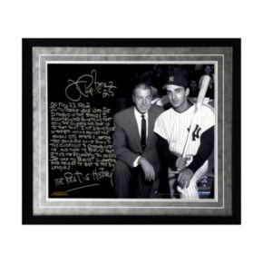 "Steiner Sports New York Yankees Joe Pepitone About Joe DiMaggio Facsimile 16"" x 20"" Framed Metallic Story Photo"