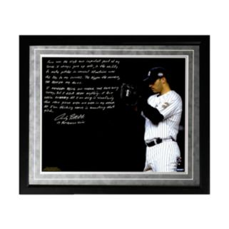 "Steiner Sports New York Yankees Andy Pettitte Postseason Focus Facsimile 16"" x 20"" Framed Metallic Story Photo"