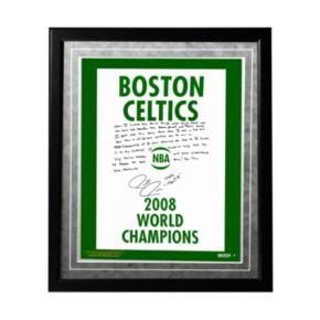 "Steiner Sports Boston Celtics Paul Pierce 2008 Champions Banner Facsimile 16"" x 20"" Framed Metallic Story Photo"