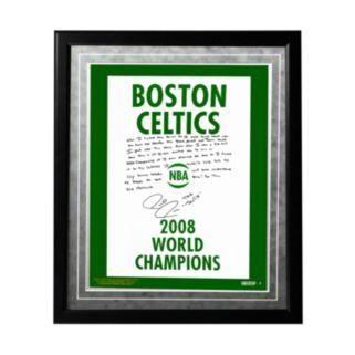 "Steiner Sports Boston Celtics Paul Pierce 2008 Champions Banner Facsimile 16"" x 20"" Framed Metallic Story Photo"