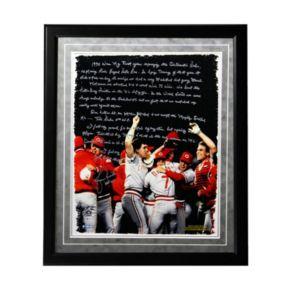 "Steiner Sports Cincinnati Reds Lou Piniella Reds World Series Facsimile 16"" x 20"" Framed Metallic Story Photo"