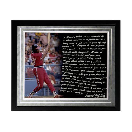 Steiner Sports Cleveland Indians Frank Robinson 1st Black Manager Facsimile 16 x 20 Framed Metalli...
