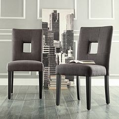 HomeVance 2 pc Roxton Keyhole Side Chair Set